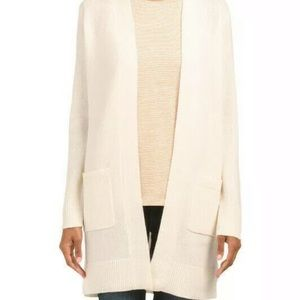 Theory 100% cashmere ivory long cardigan